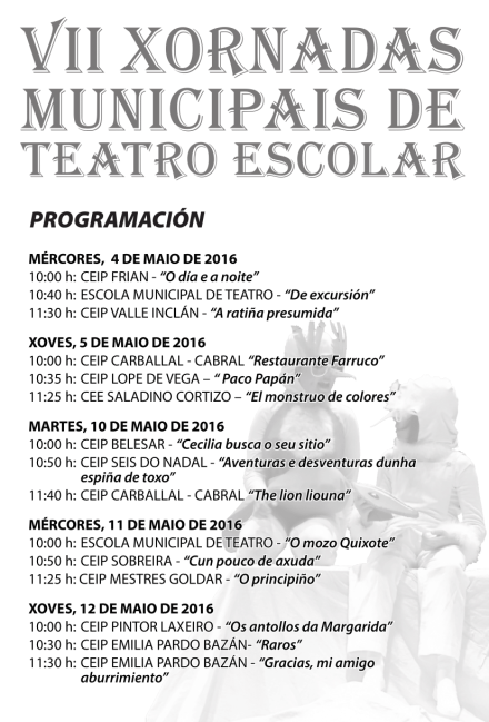 Programa de man VII Xornadas Municipais de Teatro Escolar-1